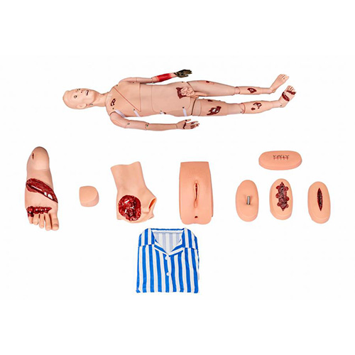 Trauma & Nursing Manikin,Full-Body Adult Nursing and Trauma Manikin